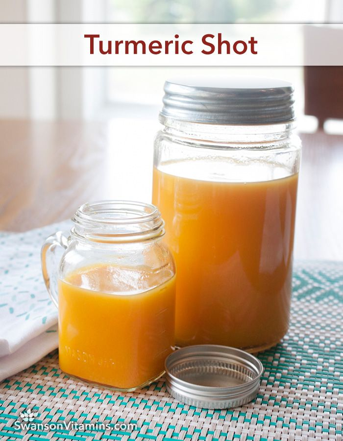 Turmeric Shot ~ Add 1/8 tsp. black pepper for 2,000% better absorption with the turmeric