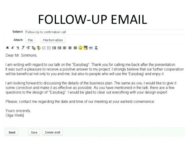 27 Sales Follow Up Email Template Follow Up Email Template To