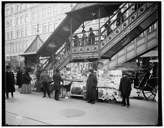New York City Newsstand Early 1900's by Photoscream, via Flickr