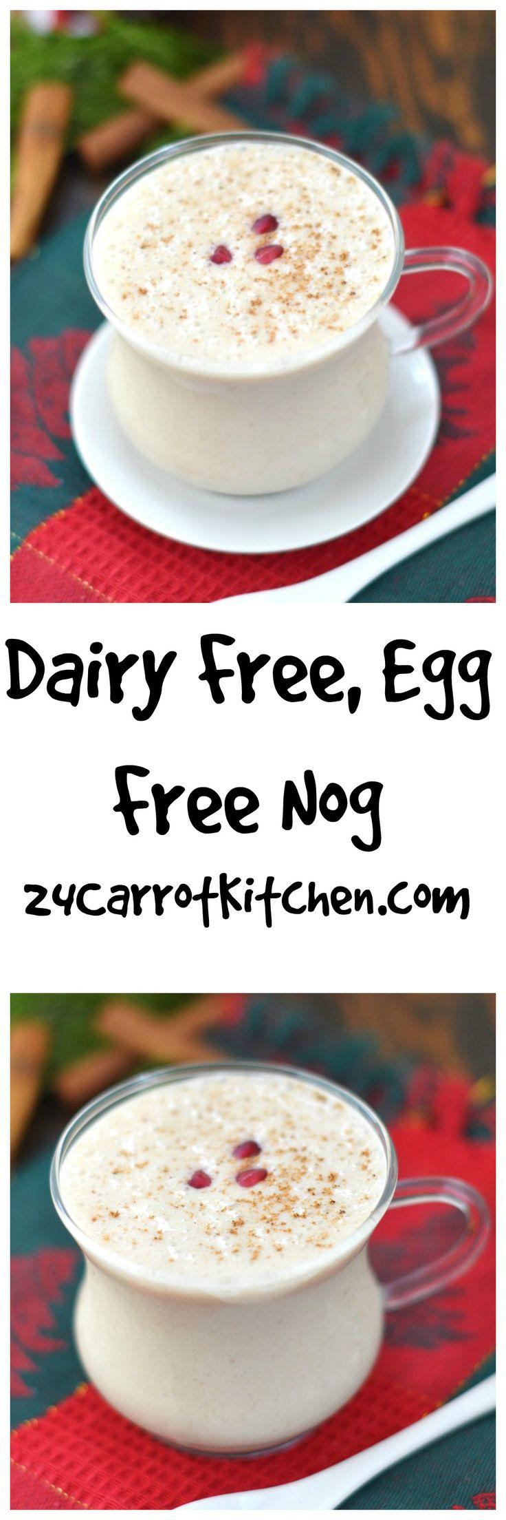 Dairy Free, Egg Free Nog - Super easy! Whip up in your blender in a minute! #vegan #paleo #paleofriendly #glutenfree #grainfree #eggnog #holiday