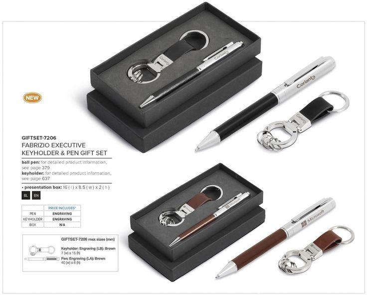 Fabrizio Executive Keyholder & Pen Gift Set Code: GIFTSET-7206 Executive Gifts