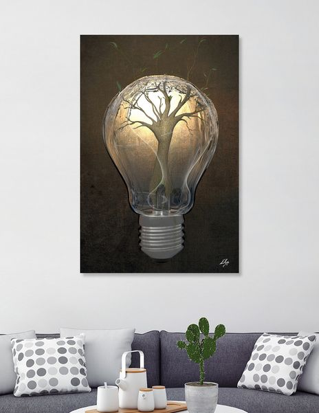 Discover «Creativity», Exclusive Edition Canvas Print by Elisa Ranalli - From 55€ - Curioos