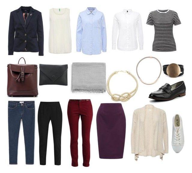 Базовый гардероб 3 с акс by lokidar on Polyvore featuring мода, Vero Moda, Benetton and Pier 1 Imports