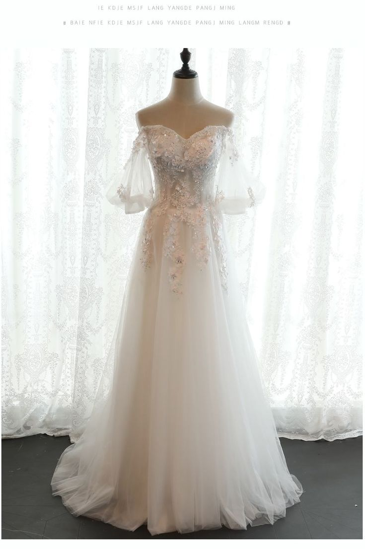 Boho Vintage Lace A-Line Wedding Dress