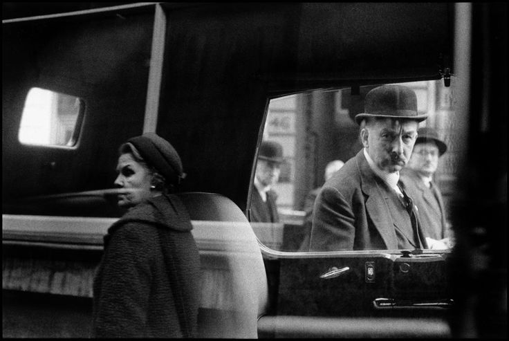 Bruce DAVIDSON :: Man and woman reflected in car window, London, UK, 1960