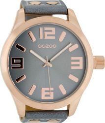 Oozoo 51mm Unisex Blue Leather Strap C1104
