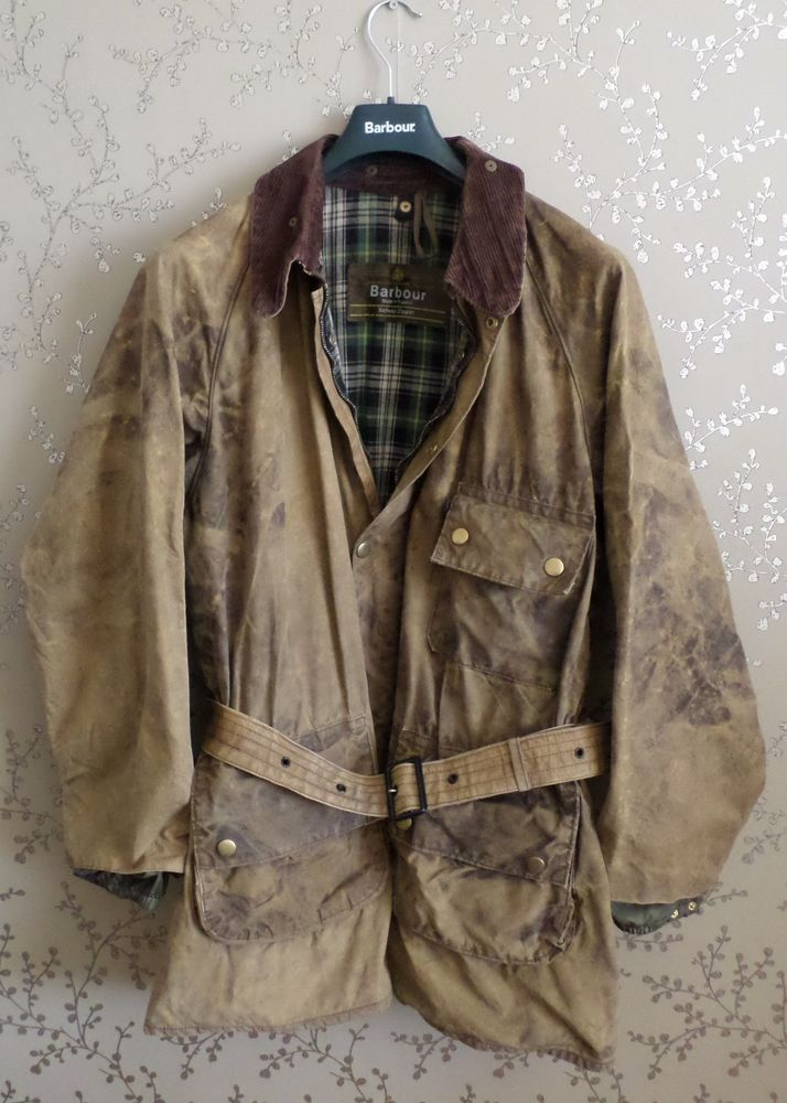 BARBOUR Vintage Solway Zipper Wax Jacket XL Hunting Coat Shooting Fishing 8568756057123