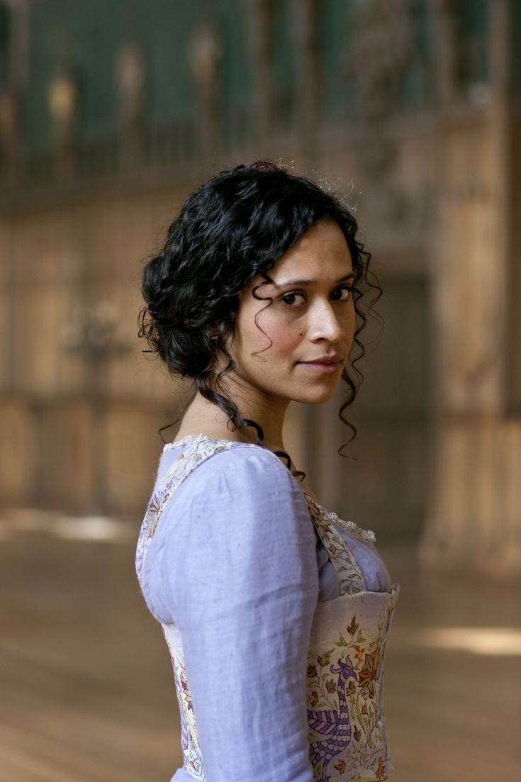 She is called Gwen and is a handmaid most of the time in BBC Merlin, but she will end as Queen Guinevere.