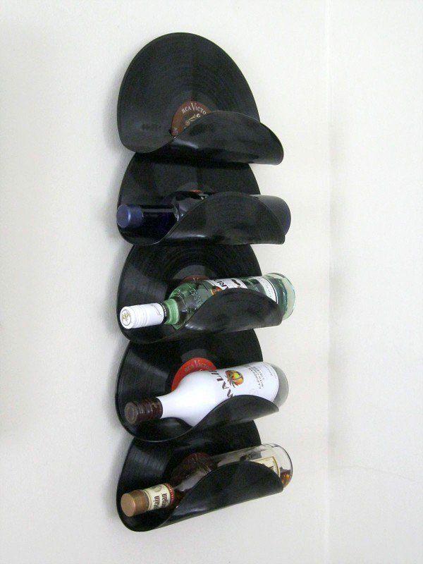 Flaschenhalter aus Schallplatten                                                                                                                                                                                 Mehr