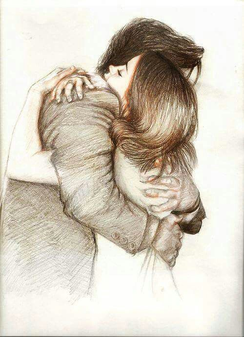 Resultado de imagem para casal desenho abraço tumblr