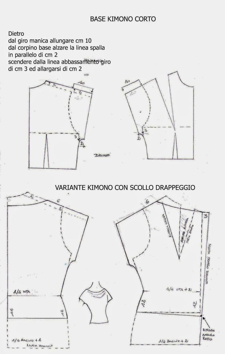 The Notebooks of Mania Studio: PATTERN KIMONO SHORT EXAMPLE