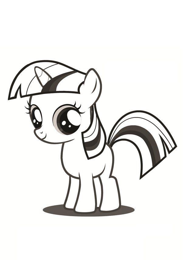 Kolorowanka Kucyki Pony My Little Pony Malowanki Dla Dziewczynek