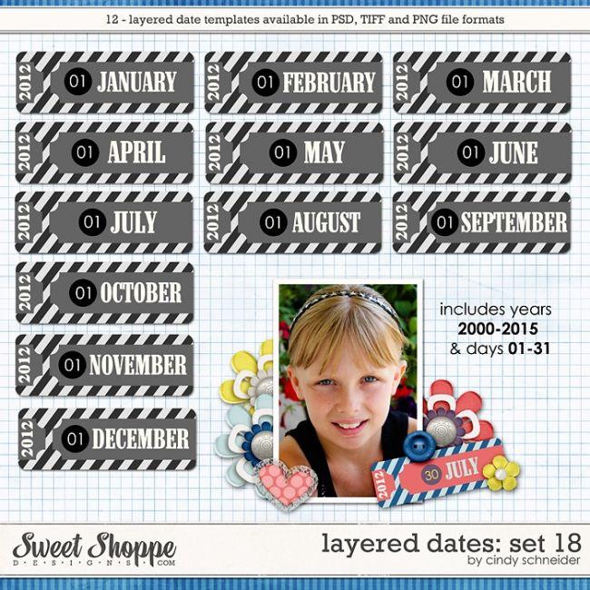 Cindy's Layered Dates: Set 18 by Cindy Schneider