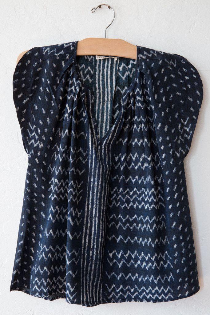 ulla johnson indigo annelise blouse
