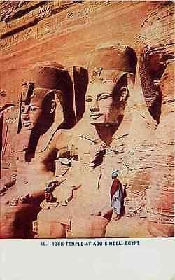 Abu Simbel Egypt 1908 Carvings Rock Temple Collectible Antique Vintage Postcard - Moodys Vintage Postcards - 1