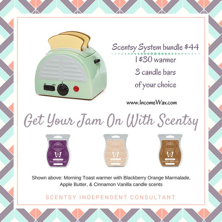 Breakfast is served!  #Scentsy #retro #toasters #jam #midcentury #kitchendecor