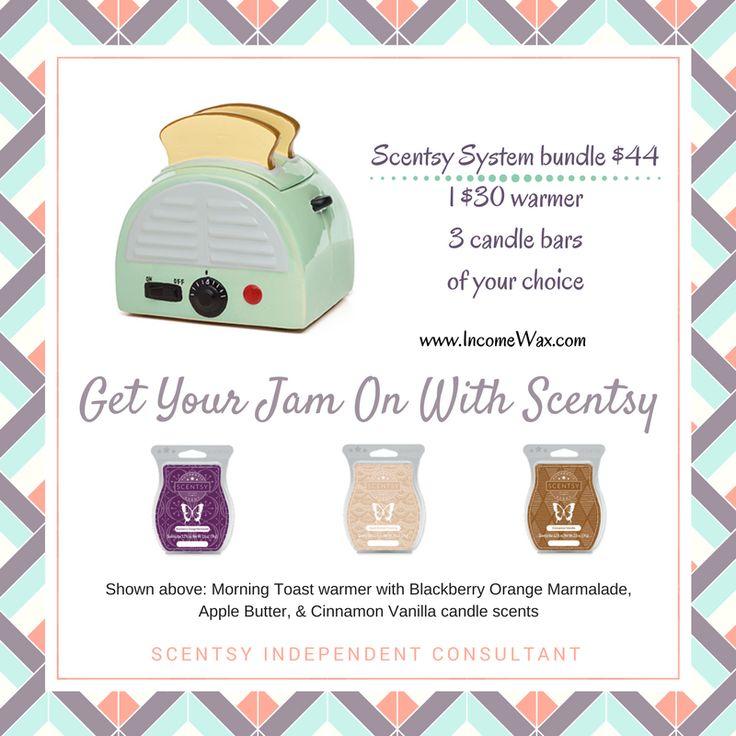 Breakfast is served! #Scentsy #retro #toasters #jam #midcentury #kitchendecor
