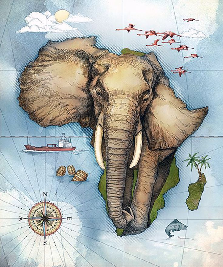 Map of Africa by Studio Muti (South Africa) working ...