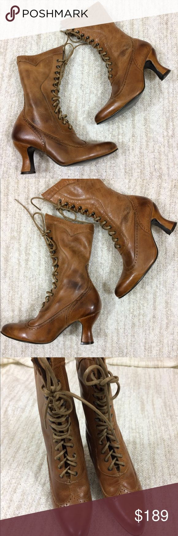Oak Tree Farms Granny Steampunk Leather Lace Boots Gently used with a few minor scratches to the leather and light variations in the color ❤️ absolutely gorgeous and great for any Victorian era lover ❤️ high quality, made in Mexico ❤️ size 6.5 Oak Tree Farms Shoes Lace Up Boots