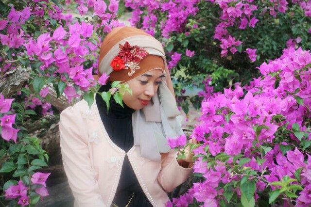 Hijab flowers
