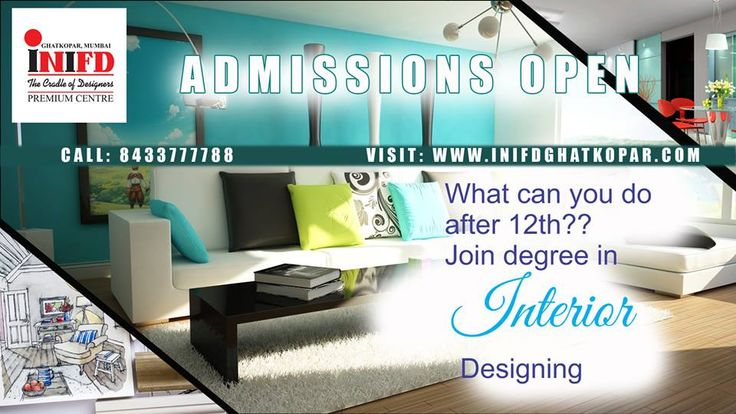 Admissions open for Bachelors, Masters & Professional courses in Interior Designing !!! Enroll Today !!!  #MyINIFD #INIFDRocks #INIFDGhatkopar #AdmissionsOpen #InteriorDesigning #LearningwithFun #DesigningCoursesinMumbai