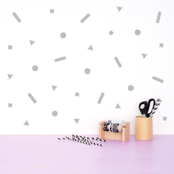 Adesivo murale figure geometriche / decalcomanie parete / wall