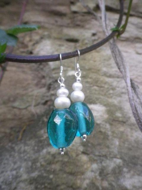 Freshwater Pearls/Czech Glass Earrings  http://www.facebook.com/ZadiaDesigns