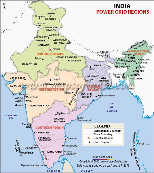128 best city maps of india images on pinterest city maps road map highlights the power grid regions of india with state and international boundaries northern western eastern southern and north eastern regions gumiabroncs Choice Image