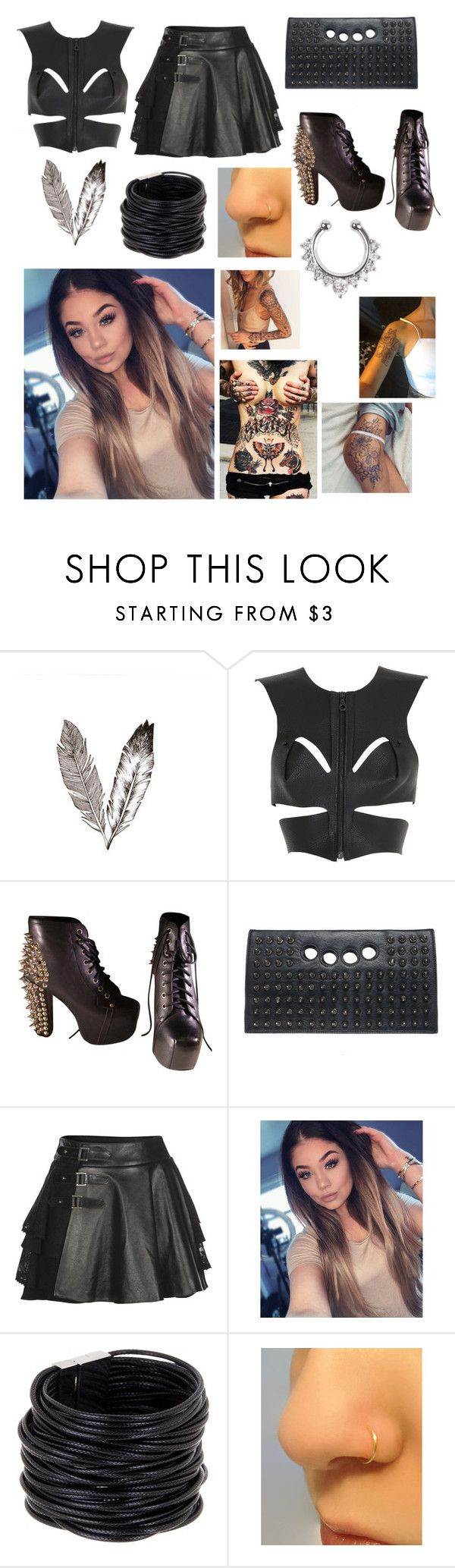 """Untitled #2060"" by beau-4-ever ❤ liked on Polyvore featuring Fleet Ilya, Jeffrey Campbell, RK New York, Mairi Mcdonald and Saachi"