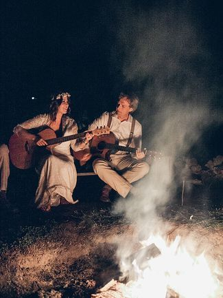 Fun bonfire idea for a rustic camp wedding