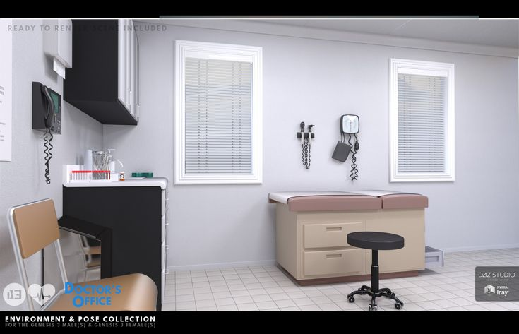 i13 Doctor's Office Environment with Poses | 3D Models and 3D Software by Daz 3D