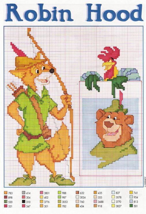 Disney - Robin Hood - cross-stich