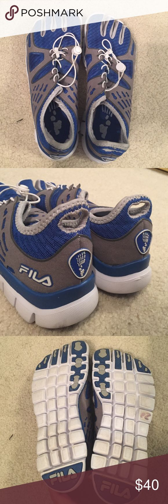 Fila running shoes Toe shoes, great for running or activities. Worn once, like new condition Fila Shoes Athletic Shoes