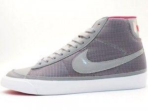 Negozio Nike Blazer Mid 09 Scarpe Donne Grigie Rosa Bianca Prezzi Piu Bassi