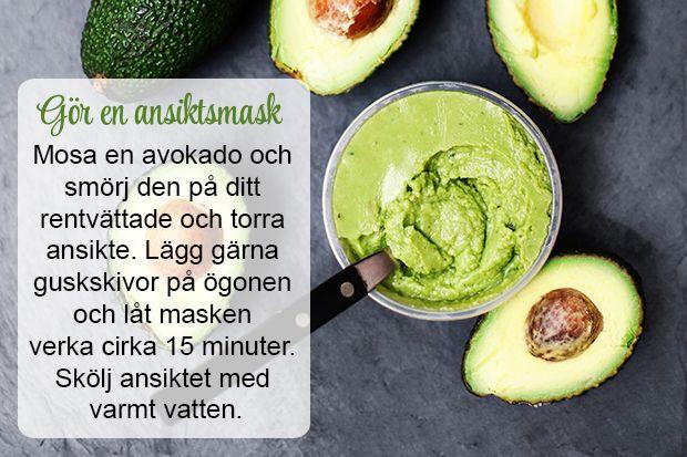 Gör en ansiktsmask med avokado!