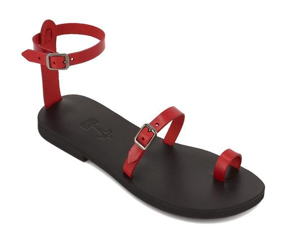 3683935468ea BREEZE Strappy sandals  leather sandals  ancient Greek