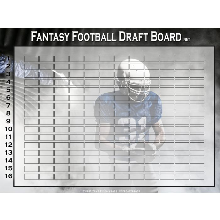 Premium Color Fantasy Football Draft Board   Hall of Fame Draft Kit