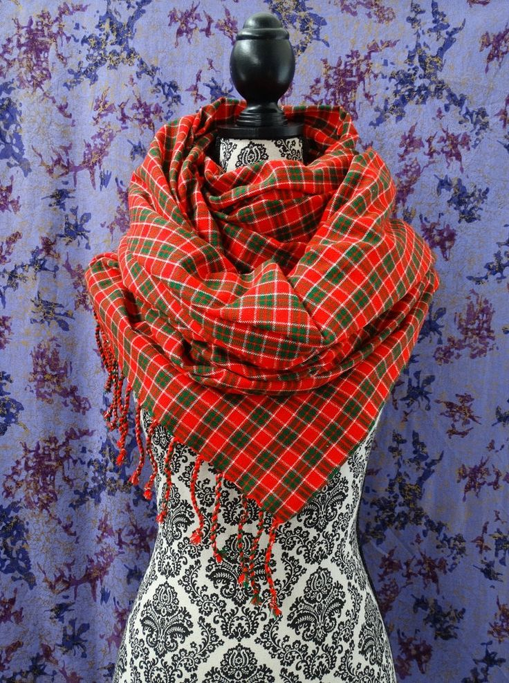 Blanket Scarf, Plaid Scarf, Oversized Scarf, Maasai Scarf, Maasai Shuka, Sorong, African Fabric, Scarves, African Acrylic by HausOfMaurafriK on Etsy