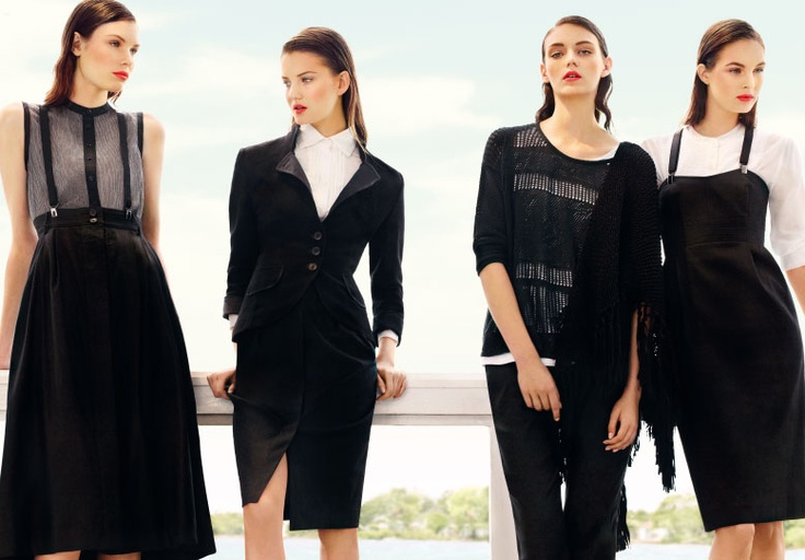 Black and white makes a fashion statement for S/S 13   #pennyblack #monochrome #blackandwhite #keytrend #campaign