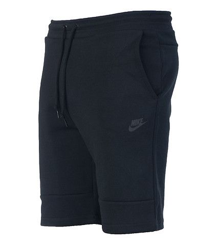 NIKE Tech shorts Sweatpants material Elastic waistband Adjustable drawstring 2 side pockets 2 back pockets NIKE swoosh logo on front