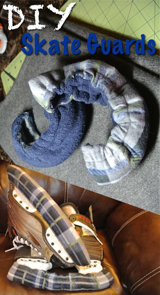 DIY Skate Guards or Skate Soakers; fleece outside and absorbent terry cloth inside  |  a must-have tutorial for every hockey mom or dad and figure skating mom or dad out there  |  free #sewing #tutorial #RealHousewifey