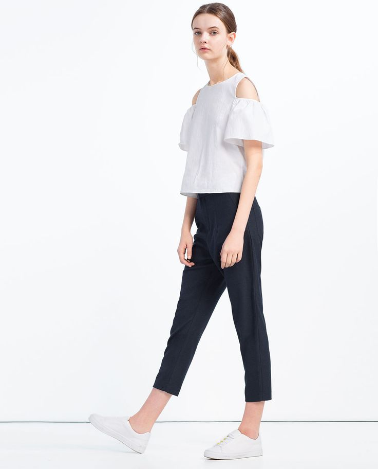 CUT-OFF SHOULDER TOP-Shirts-TOPS-WOMAN | ZARA United States