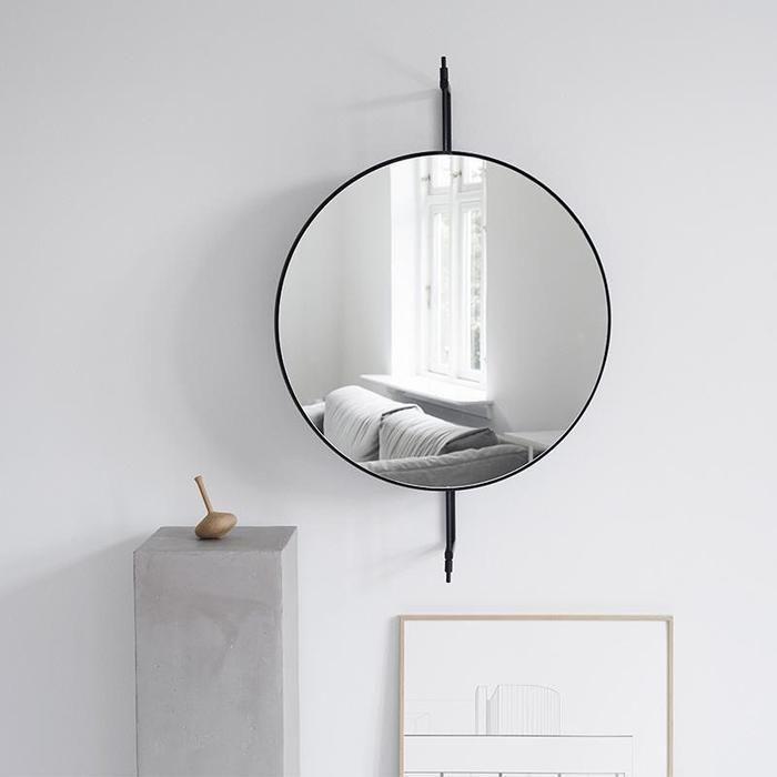 Rotating Mirror Spejl Sort Dette Elegante Store Vaegspejl Passer Perfekt Ind I Din Entre Stue Eller Badevaerelse D In 2020 Mirror Elegant Mirrors Beautiful Mirrors