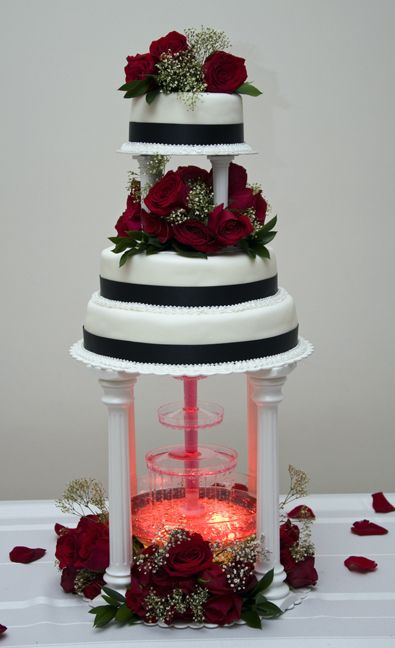 red and white wedding cakes with fountains best 25 wedding cakes ideas on 19103