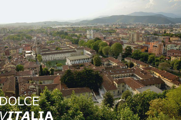 View from the Castel of Brescia on Teatro Santa Chiara and Parrocchia Ss.Faustino E Giovita, Brescia