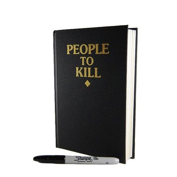 People To Kill Sketchbook ($20) ❤ liked on Polyvore featuring home, home decor and items