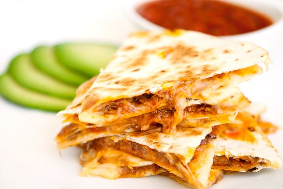 carne adovada quesadillas recipe-This looks absolutely delicious!  Carne Avacado pork would be great on its own!