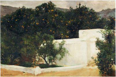 "windypoplarsroom:  "" Joaquín Sorolla y Bastida  ""Orange trees on the road to Seville"" """