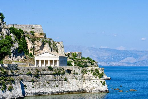 Greek Temple on Coast of Corfu