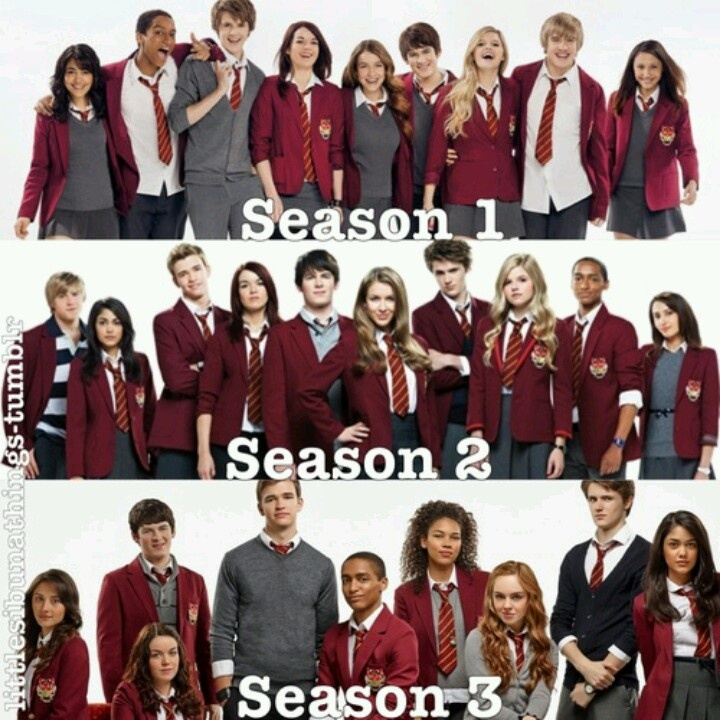 House Of Anubis. Look at the difference :( I miss Nina :'(